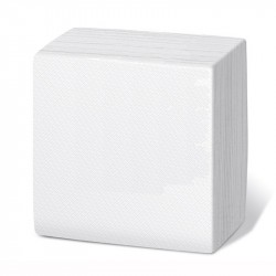 Servilleta 30x30 1c blanca c.6000