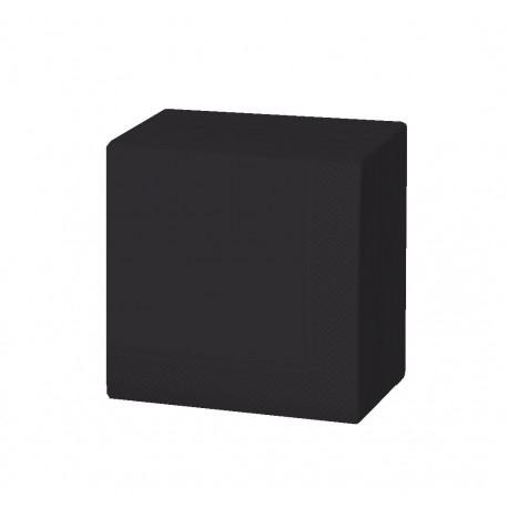 Servilleta 20x20 2c negra c.6000