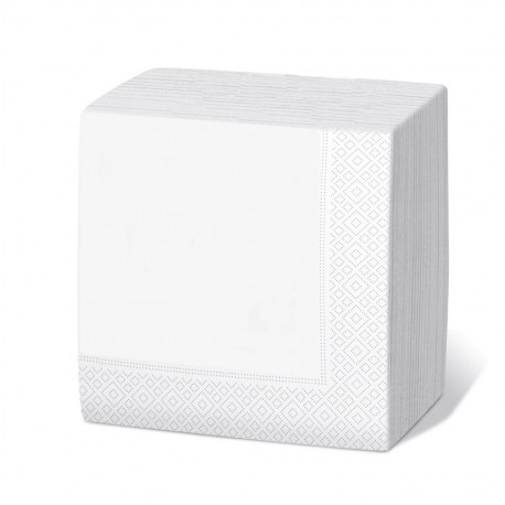 Servilleta 30x30 2c blanca c.4800