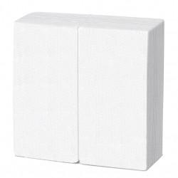 Servilleta 40x40 pta-pta 1/8 blanca c.1800