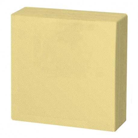 Servilleta 40x40 pta-pta crema c.1800