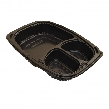 Env. Novacook negro PP 1250cc 3 compart. p.40