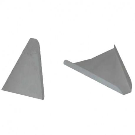 Triangulo pizza cartón blanco 22x22 c.2000
