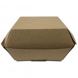 Caja hamb. peq. kraft 100x100x80 c.500