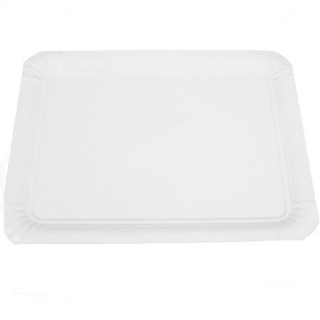 Bandeja cartón laminada blanca 20x27 p.100