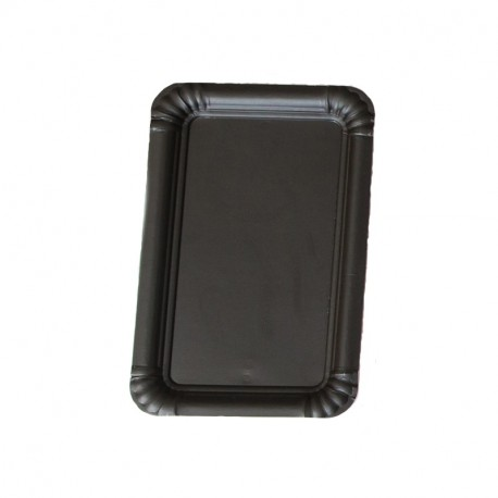Bandeja cartón laminada negra 14x21 p.100