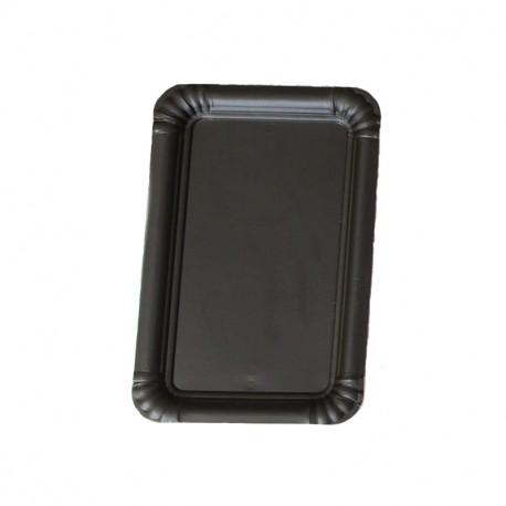 Bandeja cartón laminada negra 18x25 p.100