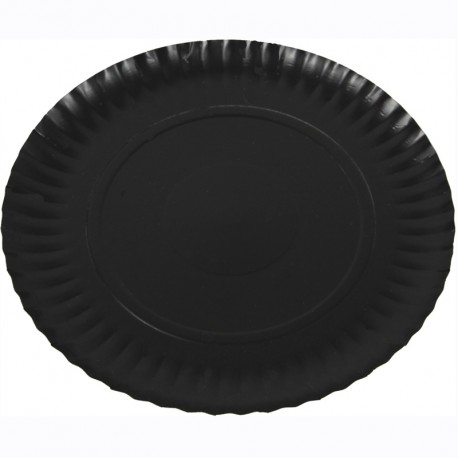 Plat cartró laminat negre 19,5cm p.100