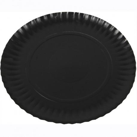 Plat cartró laminat negre 25cm p.100