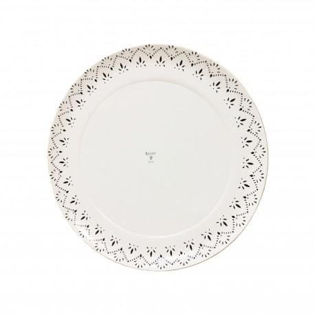 Plato cartón laminado blanco Ready 22cm p.100