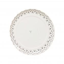 Plato cartón laminado blanco Ready 25cm p.100