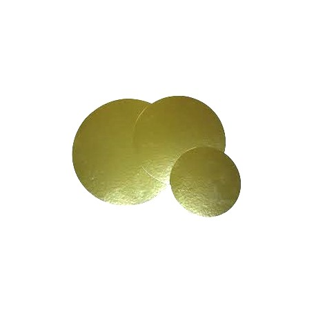 Disco cartón laminado oro 23,5cm p.100