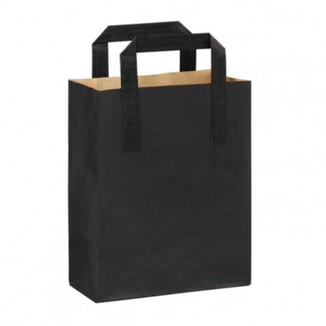 Bolsa a/plana 20+10x28cm negra c.250