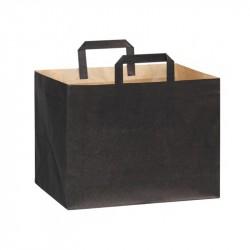 Bolsa a/plana 32+22x24cm negra c.250