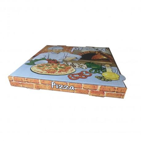 Caja pizza 26x26x3,5 Vesuvio p.100
