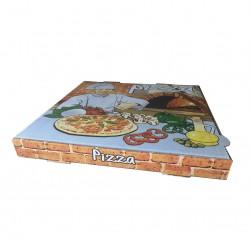 Caja pizza 30x30x3,5 Vesuvio p.100
