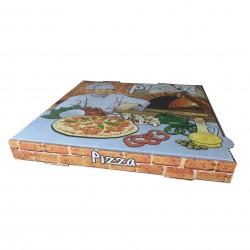 Caja pizza 33x33x3,5 Vesuvio p.100