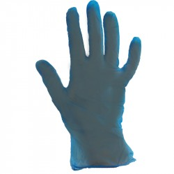 Guante vinilo azul s/polvo Talla L p.100