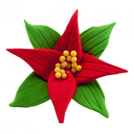 Flor de navidad azúcar 7cm c.15