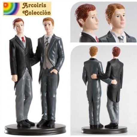 Pareja boda gay Abrazados 19cm p.2