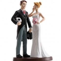 Pareja boda Fútbol 18cm p.2