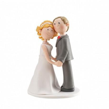 Parella casament Clay agafats de les mans 14cm p.2