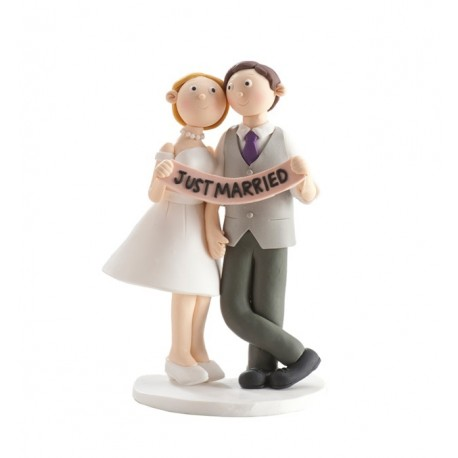 Parella casament Clay Just Married 14cm p.2