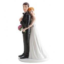 Pareja boda chica Abrazando 16cm p.2