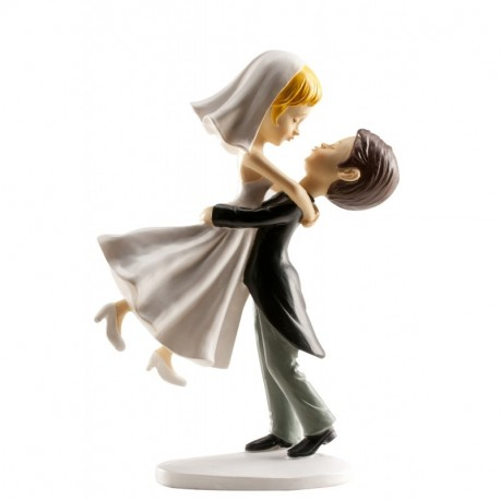 Pareja boda novios Saltando 16cm p.2