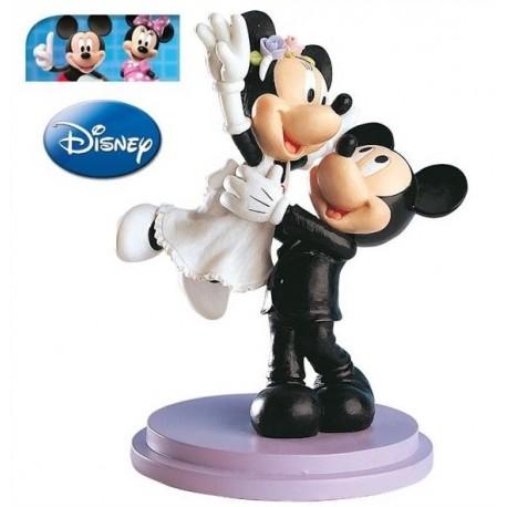 Pareja boda Mickey&Minnie Saltando 18cm p.2
