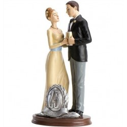 Pareja boda 25 Aniversario Brindis 19cm p.2