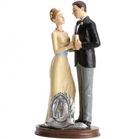 Parella casament 25 Aniversari Brindis 19cm p.2