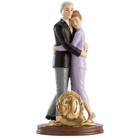 Pareja boda 50 Aniversario Abrazados 19cm p.2