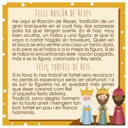 Tarjeta roscón de reyes cast/cat c.100