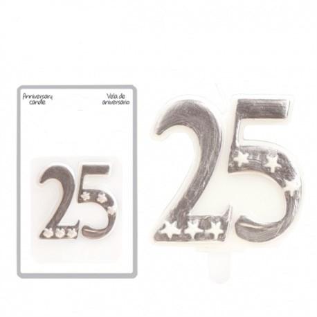 Espelma 25 aniversari 5,5x6cm p.12