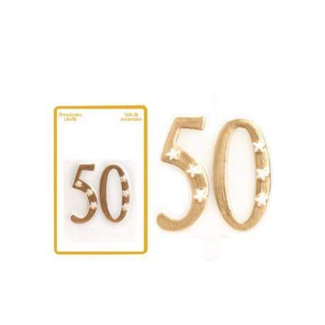 Espelma 50 aniversari 5,5x6cm p.12