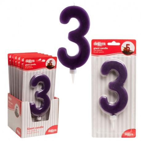 Display vela cumpleaños gigante 15cm nº3 p.6