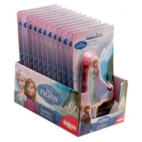 Display vela cumpleaños Frozen 2D 8cm p.12