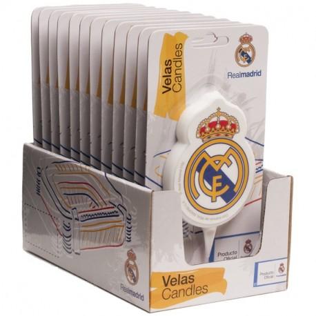 Display vela cumpleaños R. Madrid 2D 7,5cm p.12