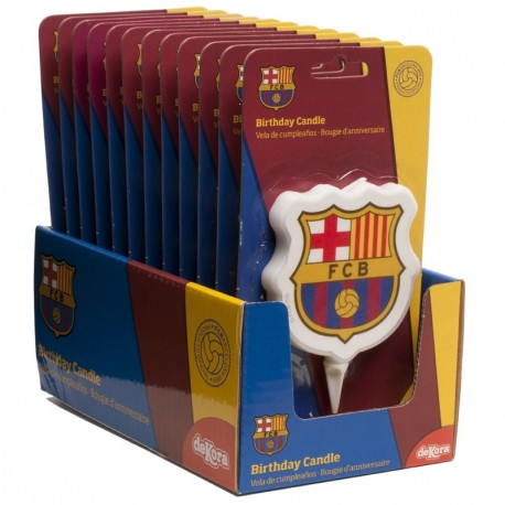 Display vela cumpleaños FC Barcelona 2D 7,5cm p.12