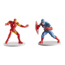Set Avengers Iron Man y Capitán América 9cm p.12