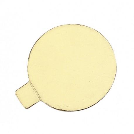 Disco cartón mini 8cm oro p.300