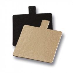 Plato cartón mini cuadrado 80x80 oro/negro p.200