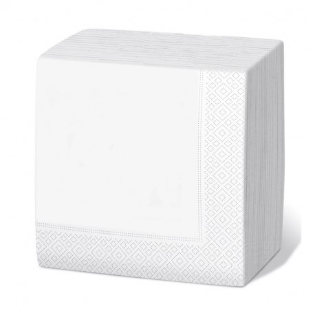 Servilleta 33x33 2c blanca c.3000