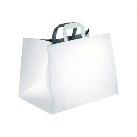 Bolsa a/plana 32+22x24cm blanca c.250