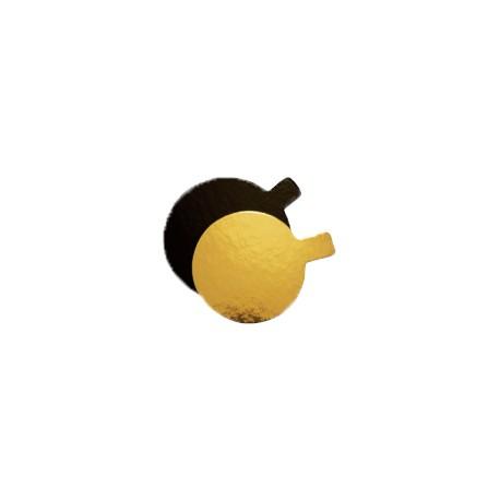 Disco cartón 7cm oro/negro p.200