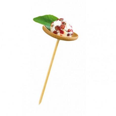Pincho bambú con plato c.144