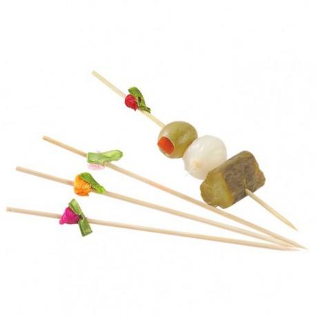 Pincho bambú con flores 12cm c.2000