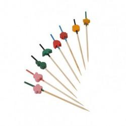 Pincho bambú varios colores 9cm c.2000