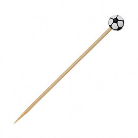Pincho bambú fútbol 12cm c.1000